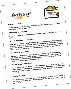 Freedom Transit Forms