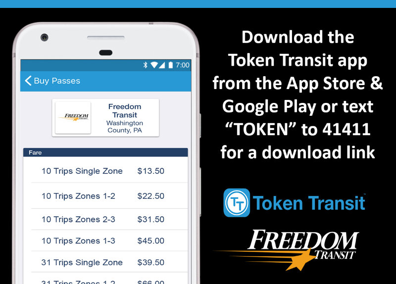 Token Transit now available from Freedom Transit